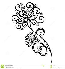 Decorative Flower And Leaf Designs Decorative Flower With Leaves Stock Vector Illustration of floral 2