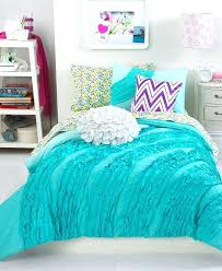 teenage girl comforter set teen vogue bedding teal ruffle sets bed for girls modern full size