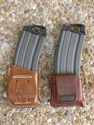Leather Magazine Holder Gun Extraordinary Fusion Of Old New Leather AR32 Magazine Pouch Options The