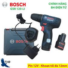 Nơi bán Máy khoan bắt vít dùng Pin 12V Bosch GSR 120-LI - Mới 2019 xuất xứ  Malaysia Bảo hành điện tử 06 tháng giá rẻ 2.190.000₫
