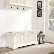 Image Of: White Entryway Bench Cubbies  STABBEDINBACK Foyer