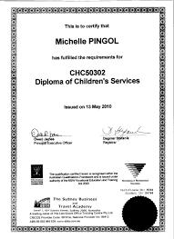 michelle pingol eportfolios feduni diploma of children services jpg details