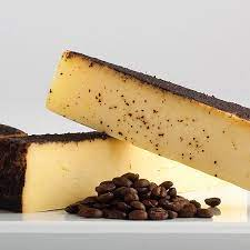 Mayan cocoa coffee fontina is the perfect cheese for melting, snacking and sandwiches. Beehive Barely Buzzed Cheese