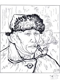 Small Picture Painter Van Gogh 2and other famous works of art coloring pages