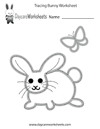 Preschoolers Can Trace A Bunny And