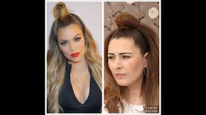 Top Knot Hair Style khloe kardashians top knot tutorial youtube 5836 by wearticles.com
