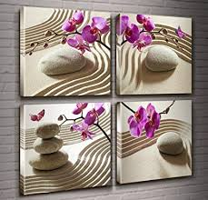 canvas print wall art spa wall decor butterfly orchid painting zen spa purple phalaenopsis flowers on purple orchid wall art with amazon canvas print wall art spa wall decor butterfly orchid