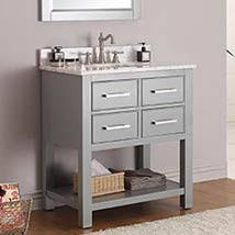 30 inch bathroom vanity. Chilled Gray 30-Inch Vanity Combo With Carrera White Marble Top 30 Inch Bathroom