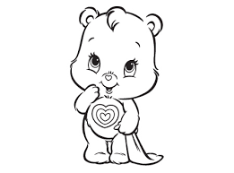 Small Picture Care Bears Coloring Pages All Moments Gianfredanet