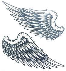 Angel Wings Raver рука нога водостойкий боди арт временная татуировка наклейка женская