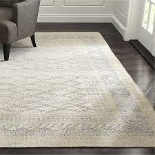 Crate and Barrel Exclusive. Rosalie Neutral Hand Knotted Oriental Rug