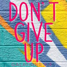 Bible Quotes Belfast Plaque 210 X 210 Dont Give Up Galatians 69