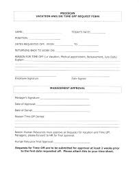 Holiday Request Form Adorable Vacation Time Off Request Template Virtualis