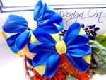 Цветы бантики из атласных лент своими руками мастер класс149