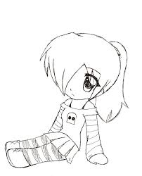 Cute Chibi Girl Easy Drawings Anime Cute Coloring Pages Girl