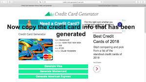 credit card generator 100 legit 2018 you