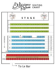 Myth Live Seating Chart Le Musique Room Seating Chart