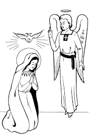Small Picture Mary Coloring Pages Printable angels Pinterest Blessed