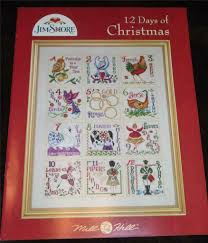 Christmas Cross Stitch Charts Mill Hill Jim Shore Counted Cross Stitch Chart Booklet 12 Days Of Christmas