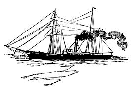 Kleurplaat Schip Afb 10512