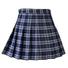 Women <b>Girl Tennis Skirt Dress High</b> Waist Plaid Flared With Inner ...