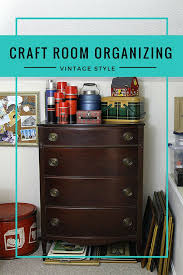 home office items. How To Use Thrift Store And Vintage Items Organize Your Home Office Or Craft Room