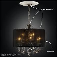 drum shade chandelier clip slide adapter kit sheer magic sh001 2