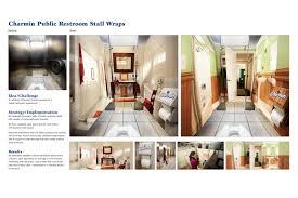 bathroom wraps. Ambient Advert By Publicis Kaplan Thaler New York Bathroom Wraps