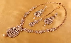 Touchstone Indian Bollywood <b>Rhinestones</b> Bridal Jewelry Necklace ...