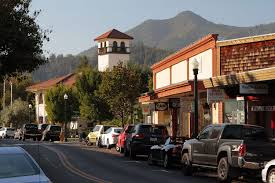 san anselmo california marin county picture of city hall with mt tam