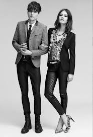 Mila de Wit @ MAX Models Rotterdam and her boyfriend Jamie Burke @ Models 1  London for The Kooples. July 2014.
