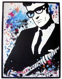 buddy holly pop art painting by venus 30 x 40 acrylic on canvas