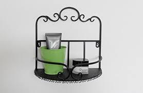 wrought iron bathroom shelf. Garden Style Wrought Iron Bathroom Shelves Storage Rack Wall-mounted Shelf O
