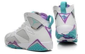 jordan shoes 2016 for girls blue. air jordan 7 retro girls neutral grey/mineral blue-bright violet-white, shoes 2016 for blue