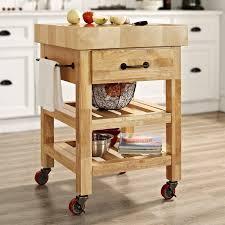Crosley Marston Butcher Block Natural Kitchen Cart
