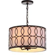 loop 3 light 16 in metal led pendant oil rubbed bronze chandelier