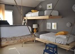 Hanging loft bed design, space saving furniture for small bedroom design ...