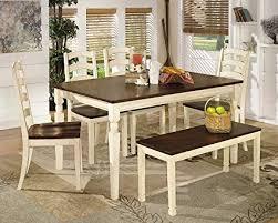 ashley furniture signature design whitesburg 6 piece dining room set includes rectangular table
