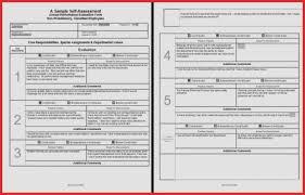 Resume Sample Picture Elegant Employee Self Evaluation Form Excel At ...