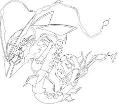 Legendary Pokemon Coloring Pages Rayquaza Coloring Page Coloring