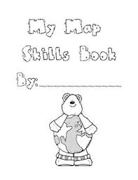 this is a map skills booklet that covers first grade map skills