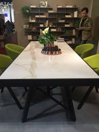 modern dining room tables and chairs. Marble Recangular Table With Green Chairs Modern Dining Room Tables And