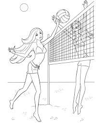 Small Picture Download Coloring Pages Volleyball Coloring Pages Volleyball