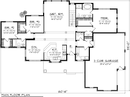Ranch Style House Plan - 3 Beds 2.50 Baths 2080 Sq/Ft Plan #70
