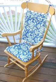 wooden rocking chair cushions pattern for wood with blue outdoor and