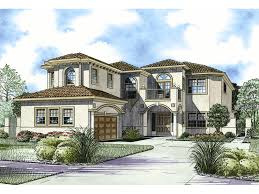 florida style house plans. Two-Story Luxury Florida Style Home With Sleek Stucco Exterior House Plans U