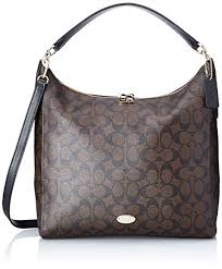 Coach Signature Celeste Convertible Hobo - Brown Black
