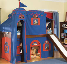 bunk bed with slide for girls. Image Of: Blue Girl Twin Loft Bed With Slide Bunk For Girls D
