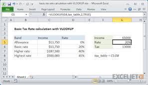 Withholding Allowance Chart Excel Formula Basic Tax Rate Calculation With Vlookup