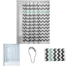 grey chevron shower curtains. InterDesign Chevron Shower Curtain Grey Chevron Shower Curtains Z